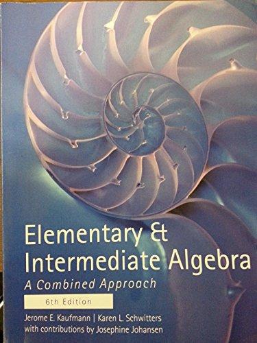 9781305008489: Elementry & Intermediate Algerbra