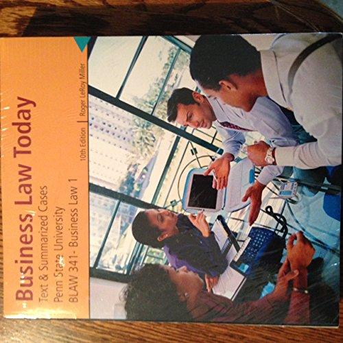 9781305010116: Business Law Today (Penn State University) 10th Edition (hardcover)