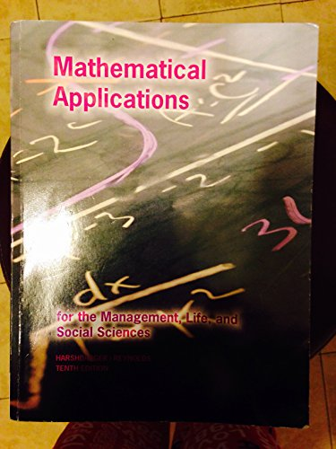 9781305010550: Mathematical Applications for the management, life, and social sciences
