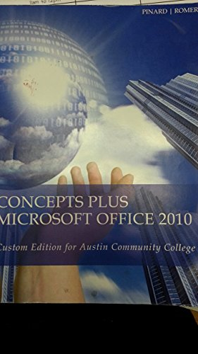 9781305016026: Concepts Plus Microsoft Office 2010