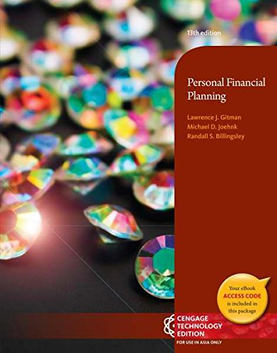 9781305016262: Personal Financial Planning (Not Textbook, Access Code Only) By Lawrence J. Gitman, Michael D. Joehnk and Randy Billingsley 13th Edition