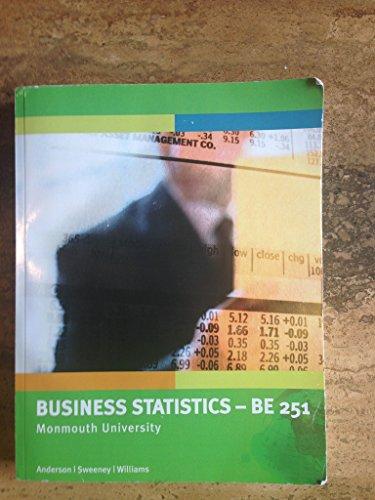 9781305016569: Business Statistics - BE 251 (Monmouth University)