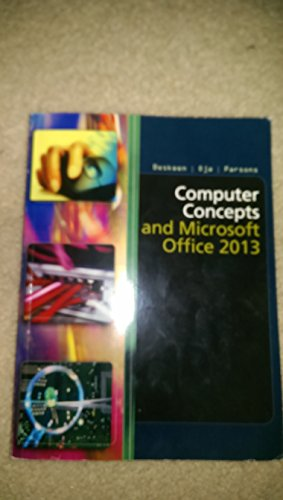 9781305018624: Computer Concepts and Microsoft Office 2013