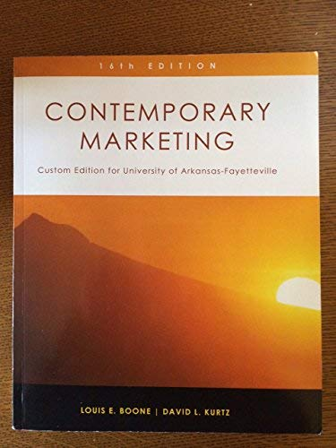 9781305019638: Contemporary Marketing - Custom Edition for University of Arkansas-Fayetteville