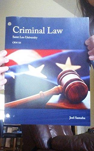 9781305020627: Criminal Law