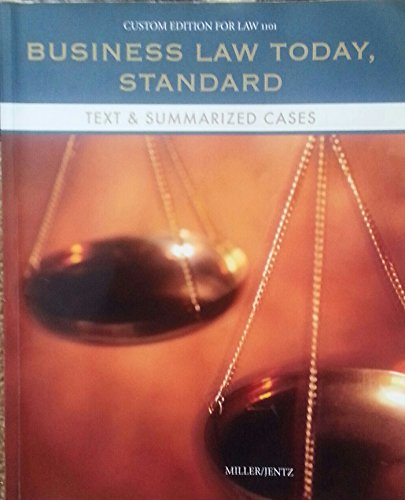 9781305020955: Business Law Today Standard. Text&summaried Cases