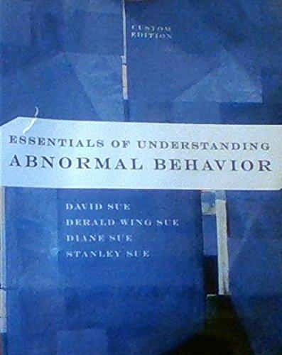 9781305021594: Essentials of Understanding Abnormal Behavior Custom Edition