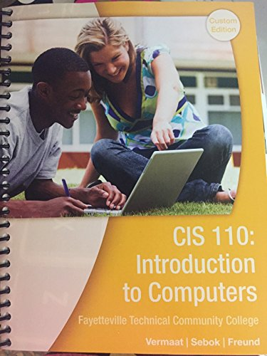 CIS 110: Introduction to Computers Fayetteville Technical Community College
