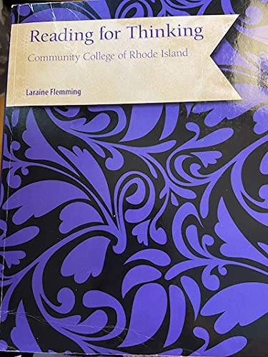 9781305023345: Reading for Thinking, Community College of Rhode Island