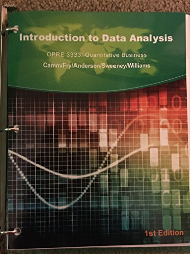 9781305024083: Introduction to Data Analysis