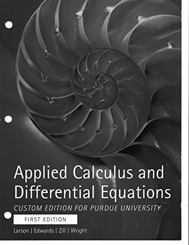 9781305024656: Applied Calculus and Differential Equations Custom Edition for Purdue University