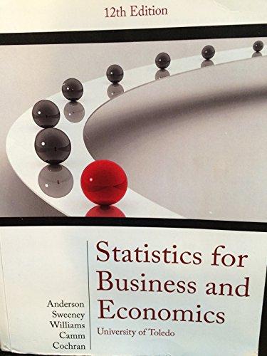 9781305025141: Statistics for Business and Economics: University of Toledo, 12th Edition