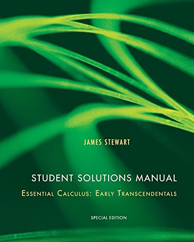 9781305026490: Student Solutions Manual for Essential Calculus: Early Transcendentals (Custom Edition)