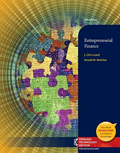 9781305028203: Entrepreneurial Finance (Not Textbook, Access Code Only) 5th Edition By J. Chris Leach and Ronald W. Melicher (2014)
