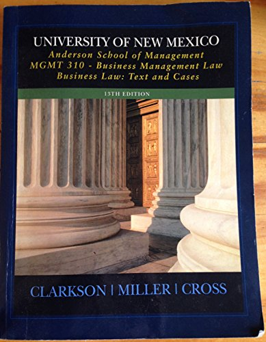 Mgmt 310 Business Management Law