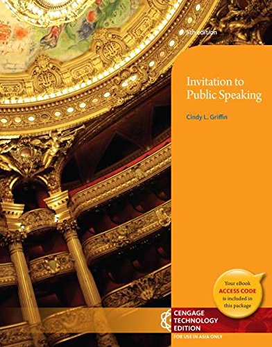 9781305028999: Invitation to Public Speaking - National Geographic, 5th Edition (Not Textbook, Access Code Only)