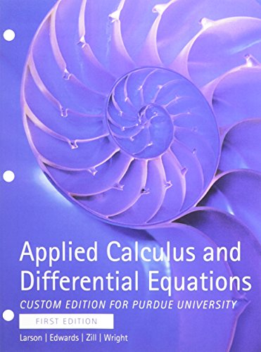 9781305029286: Applied Calculus and Differential Equations Custom Purdue University Edition