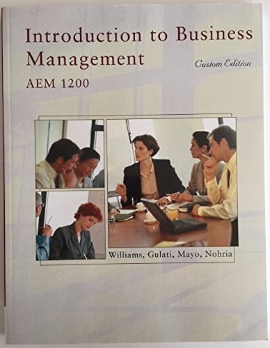 9781305030787: Introduction to Business Management AEM 1200 Custom Edition