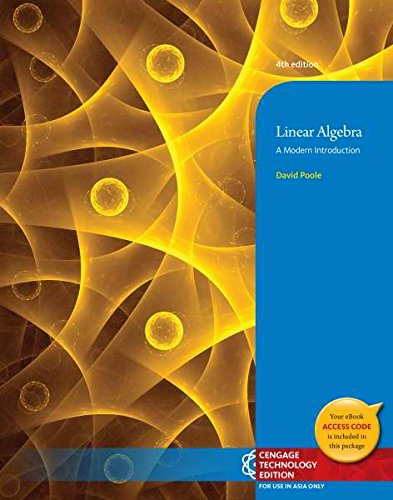 9781305032224: Linear Algebra : A Modern Introduction (Not Textbook, Access Code Only) 4th Edition By David Poole (2014)