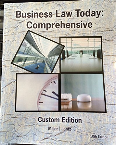 9781305032774: Business Law Today: Comprehensive 10th Edition