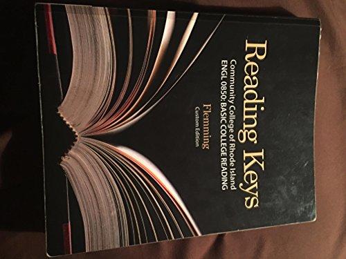 9781305033306: Reading Keys, ENGL 0850: Basic College Reading, Community College of Rhode Island