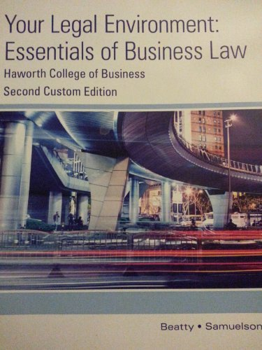9781305034754: Your Legal Environment: Essentials of Business Law - Second Custom Edition