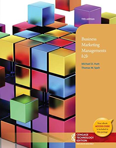 9781305035881: Business Marketing Management : B2b (Not Textbook, Access Code Only) By Thomas W. Speh and Michael D. Hutt (2012)