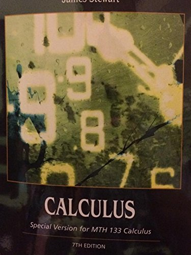 9781305036901: CUSTOM MTH 133 CALCULUS 2 (BOOK ALONE) 7E