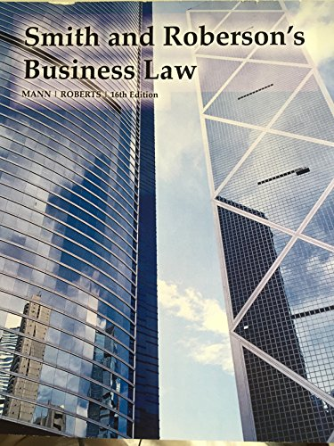 9781305037540: Smith and Roberson's Business Law