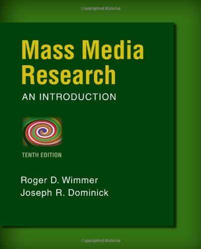 9781305038929: Mass Media Research (Not Textbook, Access Code Only) By Roger D. Wimmer, Joseph R. Dominick 10th Edition