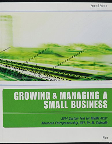 9781305041127: Growing & Managing a Small Business