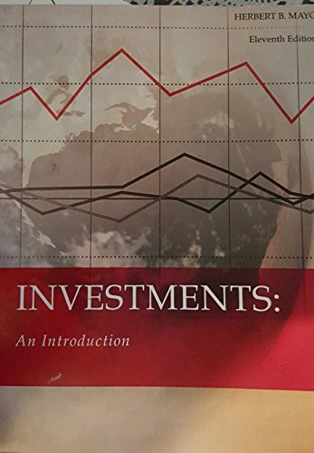9781305042018: Investments: An Introduction Eleventh Edition By Herbert B Mayo