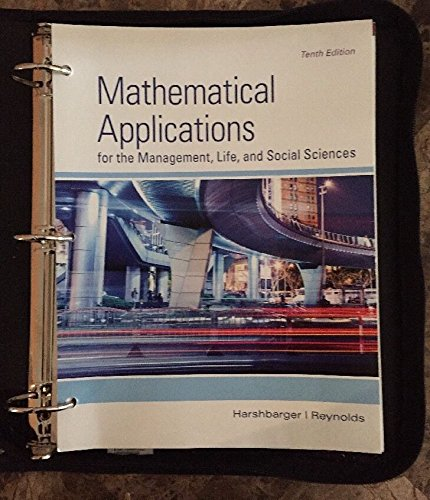 9781305042230: Mathematical Applications for Management, Life, and Social Sciences
