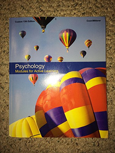 9781305045255: Psychology modules for active learning 13th edition w/ mind tap access