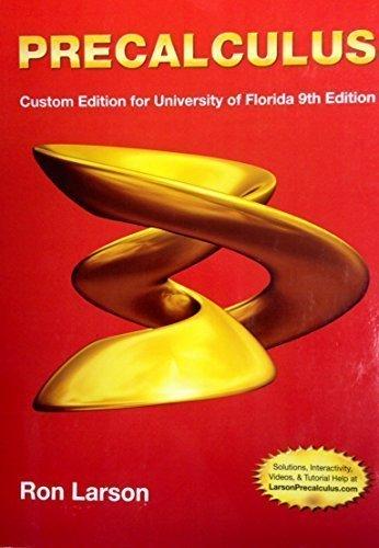 9781305046542: Precalculus Custom Edition for University of Florida 9th Edition