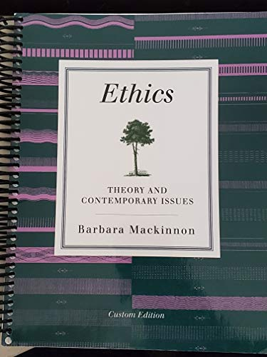 9781305047914: Ethics Theory and Contemporary Issues