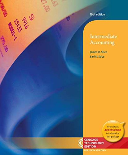 9781305048119: Intermediate Accounting (Not Textbook, Access Code Only) 19th Edition By James D. Stice and Earl K. Stice (2013)