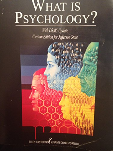 9781305049819: What Is Psychology? With Dsm5 Update (Custom Edition for Jefferson State)