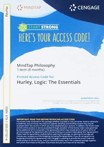 Mindtap Philosophy, 1 Term (6 Months) Printed: Patrick J Hurley