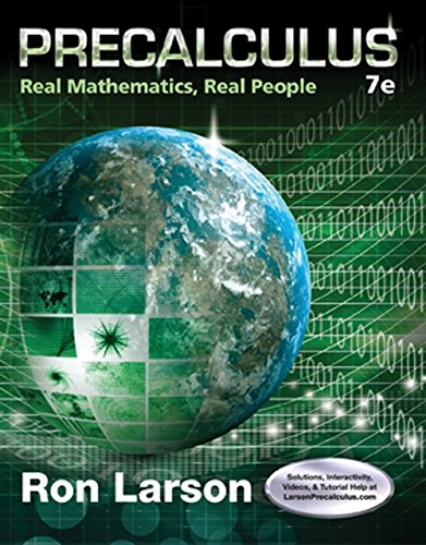 Precalculus: Real Mathematics, Real People- TEXT Only-: Ron Larson