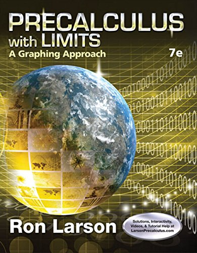 9781305071711: Precalculus with Limits: A Graphing Approach