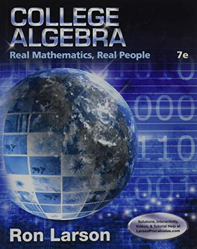 9781305071728: College Algebra: Real Mathematics, Real People