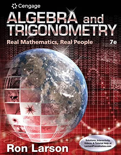 9781305071735: Algebra and Trigonometry: Real Mathematics, Real People