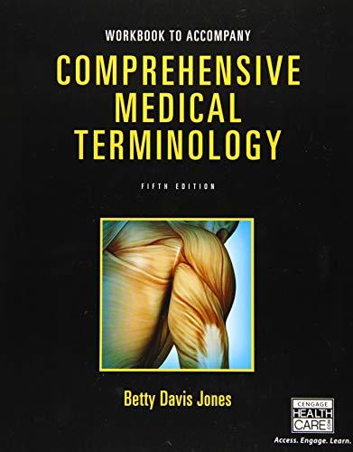9781305074637: Student Workbook for Jones' Comprehensive Medical Terminology, 5th