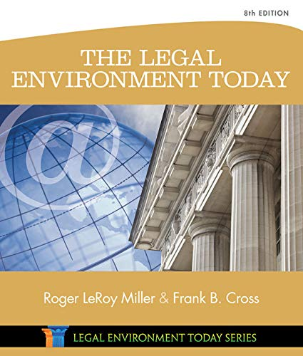 9781305075450: The Legal Environment Today (Miller Business Law Today Family)