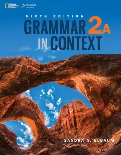 9781305075528: Grammar in Context 2: Split Edition A
