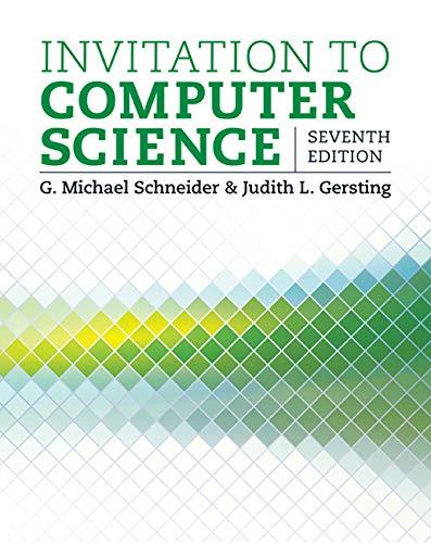9781305075771: Invitation to Computer Science - Standalone book