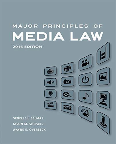 9781305076983: Major Principles of Media Law, 2016