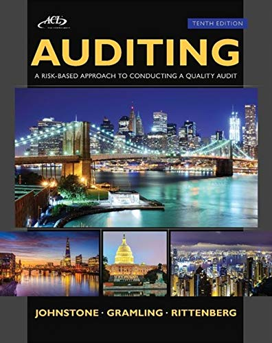 Auditing: A Risk Based-Approach to Conducting a Quality Audit (with ACL CD): Johnstone, Karla; ...