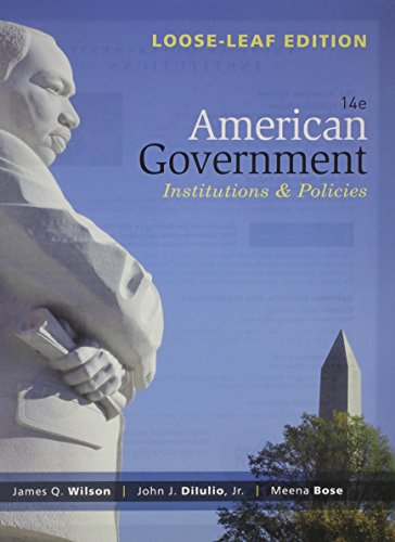 9781305081215: American Government: Institutions and Policies